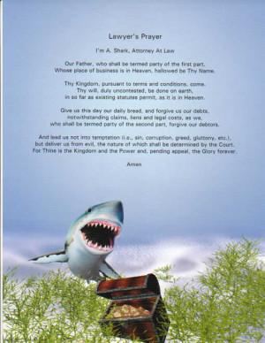 Lawyer's prayer inspirational saying imprinted on our Shark ...