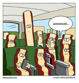 ... Funny cartoons , Funny Pictures // Tags: Funny bacon cartoon // August