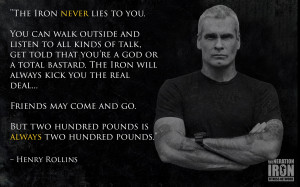 Generation Iron Henry Rollins Quote