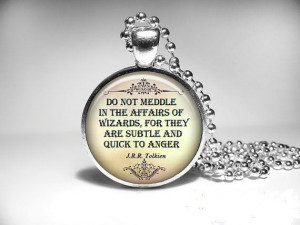 Tolkien Necklace Quote Pendant Literary Jewelry. by Vturne, $12.95