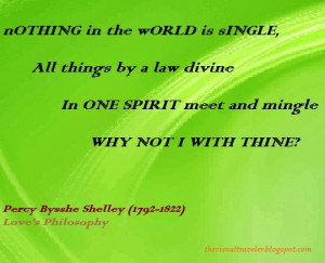 Love's Philosophy Quote Percy Bysshe Shelley
