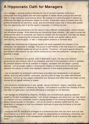 Hippocratic oath - Image of Hippocratic Oath