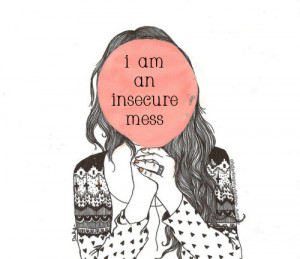 cute, drawing, girl, girls, insecure, phrase, pretty, quote, teen ...