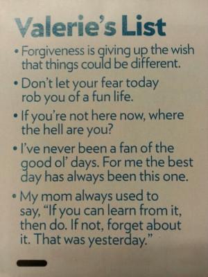 Valerie Harper wisdom