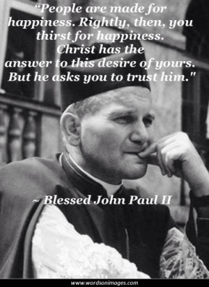 Pope john paul quotes