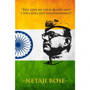 Netaji Subhash Chandra Bose Poster cum Sticker from Wallstick at ...