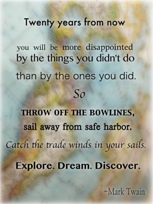 Travel quotes, Mark Twain