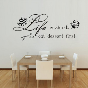 -Wall-Quotes-Kitchen-Wall-Stickers-Waterproof-Removable-wall-decals ...