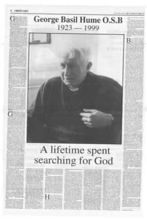 George Basil Hume 0.s.b - from the Catholic Herald Archive