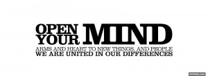 open your mind quotes facebook cover
