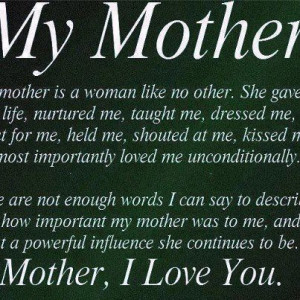 SOOO miss you my sweet MOMMA!