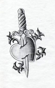 ... broken heart heart broken tattoo heart dagger tattoo broken heart