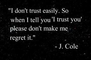 don't trust easily