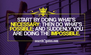 How About Doing The Impossible