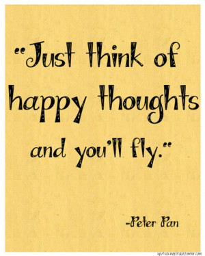 Just think of happy thoughts and you'll fly