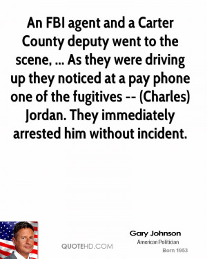 An FBI agent and a Carter County deputy went to the scene, ... As they ...