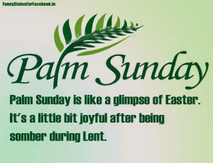 Palm Sunday Easter Picture easter sunday By Funnystatusforfacebook.in