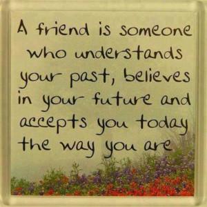 friend is someone who understands...