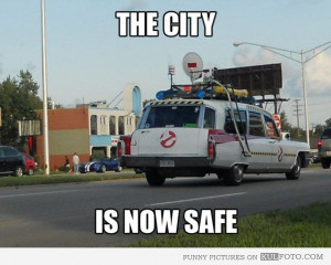 Funny Ghostbusters Quotes | Ghostbusters car - Funny car looking like ...