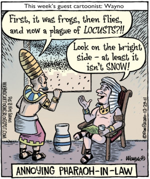 Annoying Pharaoh-in-law for all you snow-haters out there.. haha