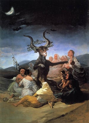 """:""""The Witches' Sabbath"""", by spanish master Francisco De Goya ..."""