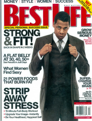 Check out Jay-Z on the cover of BEST LIFE Magazine's Personal Success ...