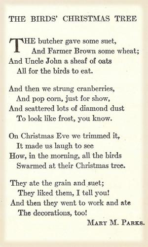 Family Tree Quotes Poems The birds' christmas tree