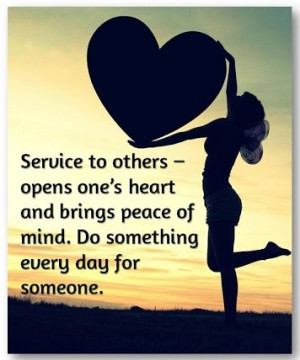 Service to others-