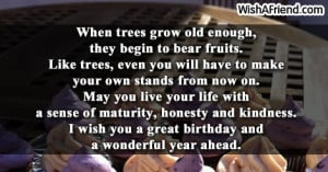 When trees grow old enough,