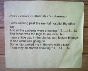 Funny photos funny mental hospital gap eye poke