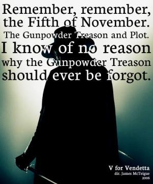 ... Remember The Fifth Of November, Design Bags, Movie Line, Vendetta