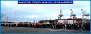 Masspicket of hundreds on the Oakland docks blocked the unloading ...