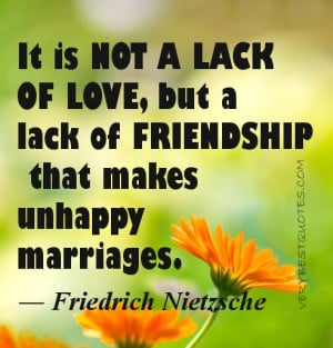 Marriage picture quote – It is not a lack of love, but a lack of ...