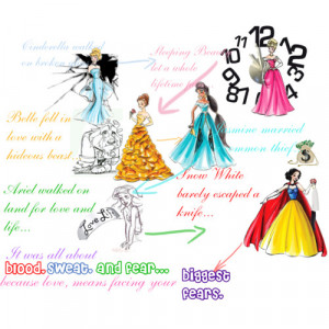 disney princesses quote - Polyvore