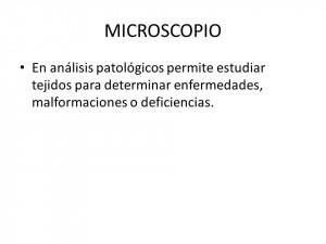 MICROSCOPIO En análisis patológicos permite estudiar tejidos para ...