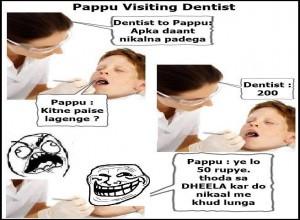 Pappu Visiting Dentist