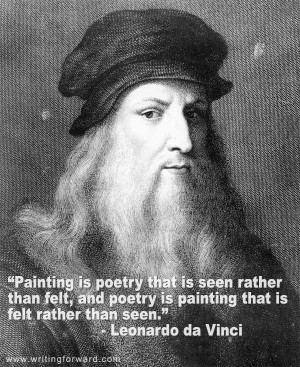 Painting is poetry that is seen rather than felt,