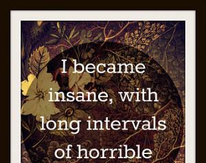 Edgar Allan Poe Insanity Quote 8X1 0 Typography ...