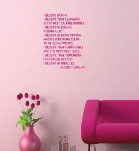 audrey hepburn quote i believe in pink audrey hepburn quote