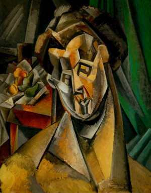 Pablo Picasso. Woman with Pears. 1909 year