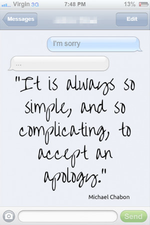 Quotes About Apologizing