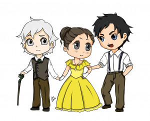 Quick chibis Jem, Tessa and Will from The Infernal Devices cause I am ...