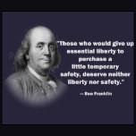 Gun Rights Benjamin Franklin Quote Tee