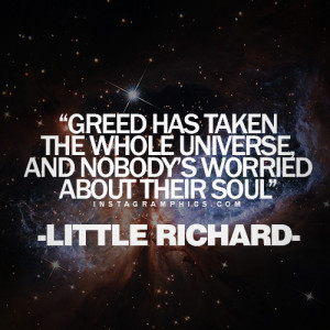 ... The Whole Universe Little Richard Quote graphic from Instagramphics