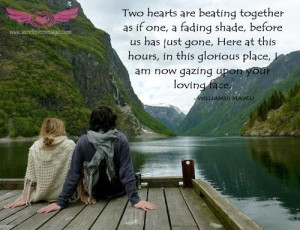 Two hearts are beating together as if one