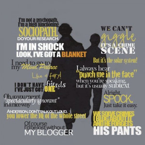 Sherlock quotes.