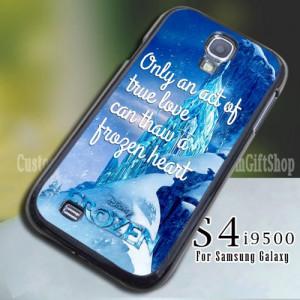 Disney Frozen Quote Movie Ice Castle Design for Samsung S4 9500 Case