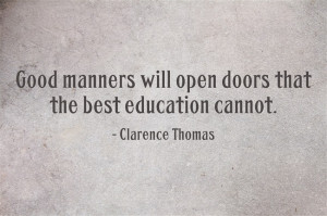 Clarence Thomas Quote About Manners