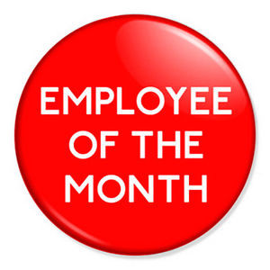 Employee-of-the-Month-25mm-1-Pin-Badge-Button-Novelty-Funny-Joke-Work ...