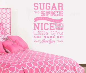 Sugar and Spice Wall Quote Decal Personalized on Etsy, $19.99